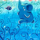 Underwater Adventure - Rondy the Elephant Painting by oksancia