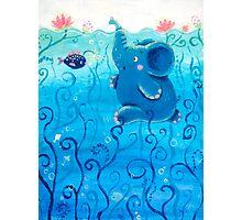 Underwater Adventure - Rondy the Elephant Painting Photographic Print