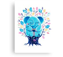 Hiding Place - Rondy the Elephant Sitting In a Tree Canvas Print