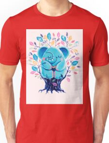 Hiding Place - Rondy the Elephant Sitting In a Tree Unisex T-Shirt