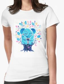 Hiding Place - Rondy the Elephant Sitting In a Tree Womens Fitted T-Shirt