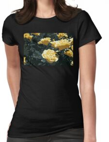 Yellow Roses Womens Fitted T-Shirt