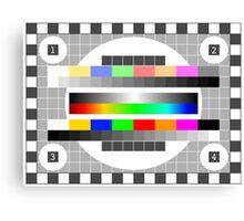 TV Test Pattern Canvas Print