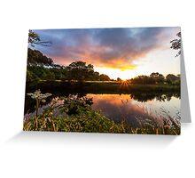 Beautiful Sunrise Over Llandeilo Greeting Card