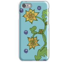 Soot Sprites with Flowers iPhone Case/Skin