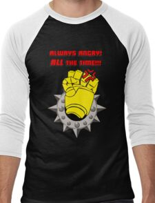 Tabletop gaming - always angry, all the time - powerfist Men's Baseball ¾ T-Shirt