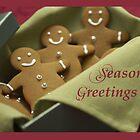 Gingerbread Men, Christmas Seasons Greetings by SandraRose