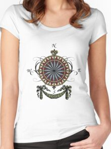 Compass Rose Women's Fitted Scoop T-Shirt