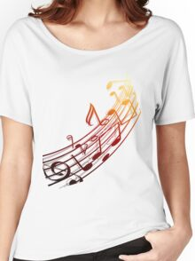 Music Notes Women's Relaxed Fit T-Shirt