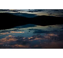 Sky Coloured Water Photographic Print