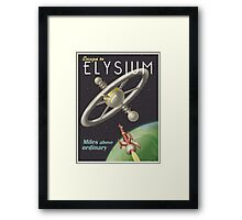 Escape to the Space Station Framed Print