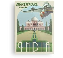 Adventure Awaits in India Metal Print