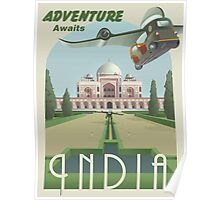Adventure Awaits in India Poster