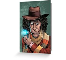 Dr Who Tom Baker Greeting Card