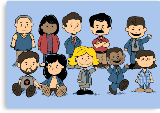 Parks and Rec Peanuts by sponzar