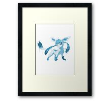 Graffiti Glaceon Framed Print