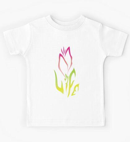 Pink Flower of Life Kids Tee