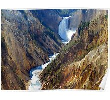 Grand Canyon at Yellowstone Poster