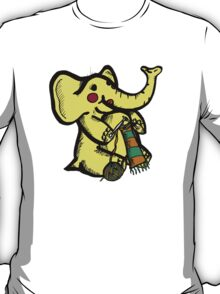 Knitting Elephant Loves Yarn T-Shirt