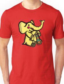 Knitting Elephant Loves Yarn Unisex T-Shirt