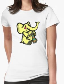 Knitting Elephant Loves Yarn Womens Fitted T-Shirt