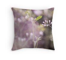 Purple curtain...Got Featured Work:) Throw Pillow