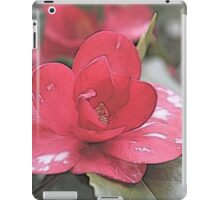 Pink camellia flower photography. iPad Case/Skin
