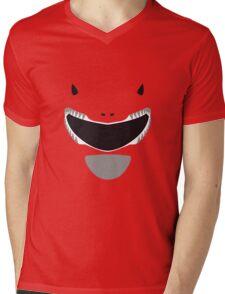 Mighty Morphin Power Rangers Red Ranger Mens V-Neck T-Shirt