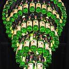 Lamp of whiskey bottles by Arie Koene