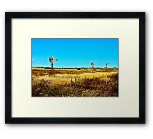 Country Landscape HDR Framed Print