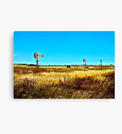 Country Landscape HDR Canvas Print