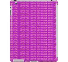 I love you purple edition iPad Case/Skin