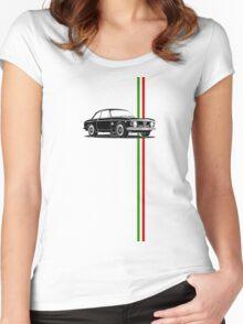 Alfa Romeo Giulia Sprint GTA with Italian flag stripe Women's Fitted Scoop T-Shirt