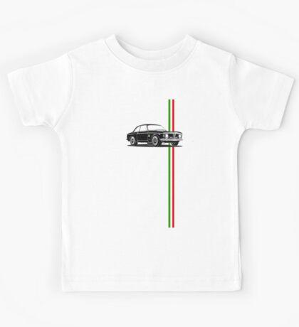 Alfa Romeo Giulia Sprint GTA with Italian flag stripe Kids Tee