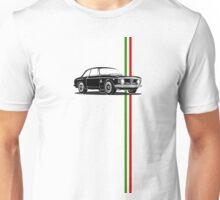 Alfa Romeo Giulia Sprint GTA with Italian flag stripe Unisex T-Shirt