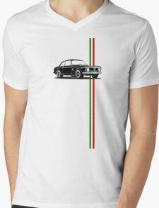 Alfa Romeo Giulia Sprint GTA with Italian flag stripe Mens V-Neck T-Shirt