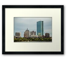 Downtown Boston Framed Print