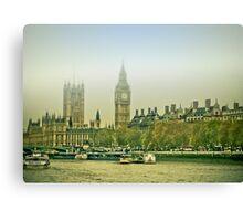 Foggy Westminster Canvas Print