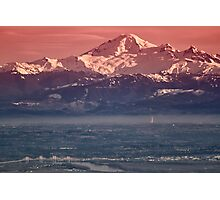 Majestic Mt Baker and downtown Vancouver Photographic Print