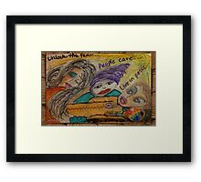 Unlock the Fear Framed Print
