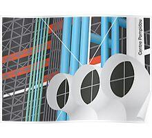 Centre Pompidou, Paris, France Poster