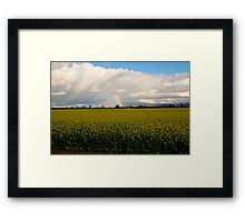 Spring on the farmlands Framed Print