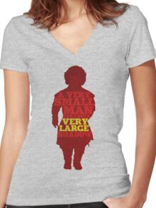 Game of Thrones - Tyrion: A Very Large Shadow Women's Fitted V-Neck T-Shirt