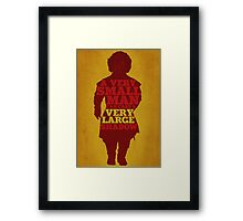 Game of Thrones - Tyrion: A Very Large Shadow Framed Print