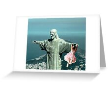 Christ saving a little girl Greeting Card
