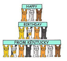 Cats Happy Birthday from Kentucky. by KateTaylor