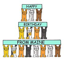 Cats Happy Birthday frm Maine. by KateTaylor
