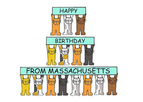 Cats Happy Birthday from Massachusetts by KateTaylor