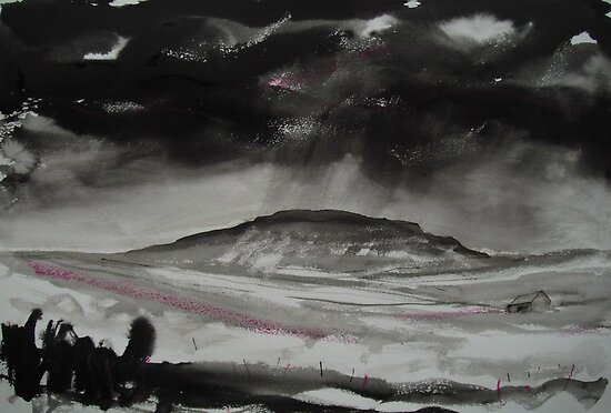 'Bleak Winter, Penyghent' by Martin Williamson (©cobbybrook)