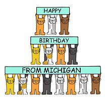 Cats Happy Birthday from Michigan. by KateTaylor